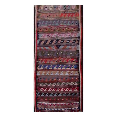 PERSIAN VINTAGE KILIM MADE WITH NATURAL WOOL AND COTTON 276x128cm Retail $3421