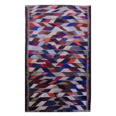 PERSIAN VINTAGE KILIM MADE WITH NATURAL WOOL AND COTTON 252x107cm Retail $2611