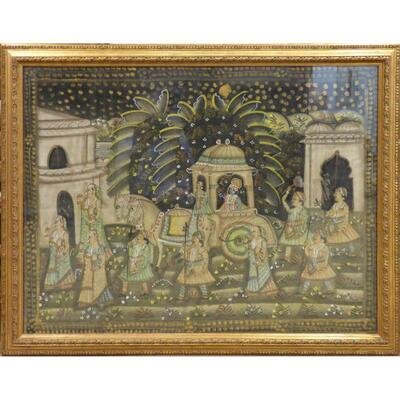 Traditional Fine Art of Indian Painting on Silk 45