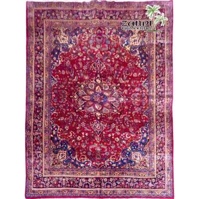 Medallion Red Wool Persian Rug Size 13'70
