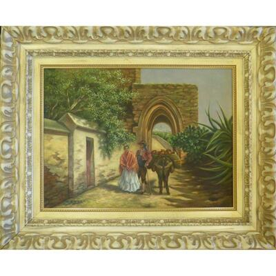 Spanish Oil Painting by Ba. Alboano Wall Art Decoration 37