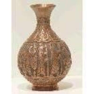 Fine Art Handmade Persian Engraved Copper Antique 9