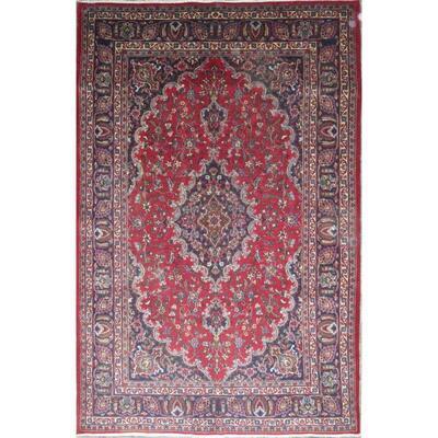 Persian mashhad Authentic Traditonal Vintage Persian Rug 9'7