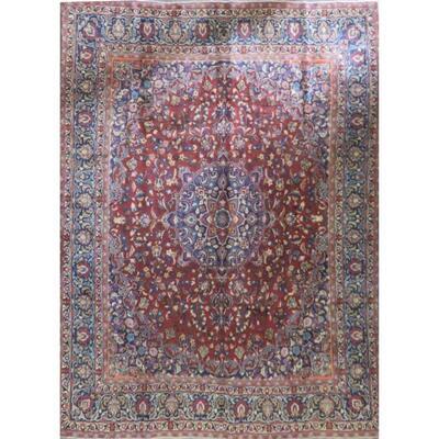 Persian mashhad Authentic Traditonal Vintage Rug 12'0
