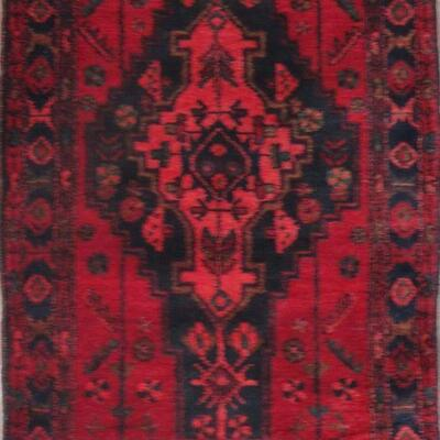 Persian hamedan Authentic Traditonal Vintage Persian Rug 4'9