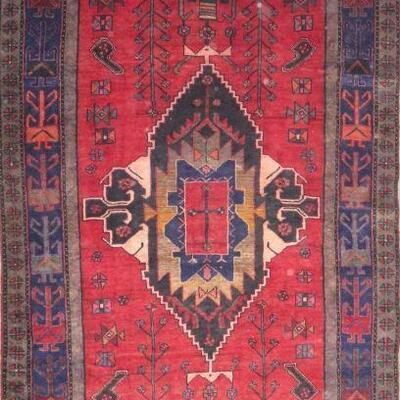 Persian hamedan Authentic Traditonal Vintage Persian Rug 10'1
