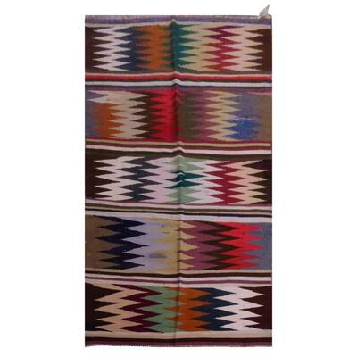 PERSIAN VINTAGE KILIM MADE WITH NATURAL WOOL AND COTTON 294x102cm Retail $2904