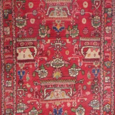 Persian hamedan Authentic Traditonal Vintage Persian Rug 8'1
