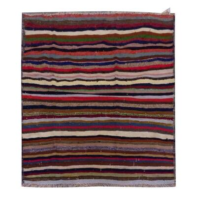 PERSIAN VINTAGE KILIM MADE WITH NATURAL WOOL AND COTTON 152x113cm Retail $1663.5