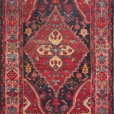 Persian hamedan Authentic Traditonal Vintage Persian Rug 5'10