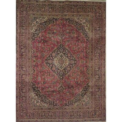 Persian mashad Authentic Traditonal Vintage Persian Rug 11'10
