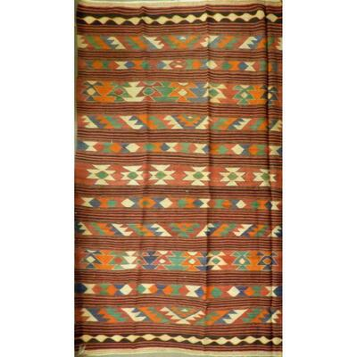 Authentic Persian Vintage Kilim Wool Seneh Collection 8'8