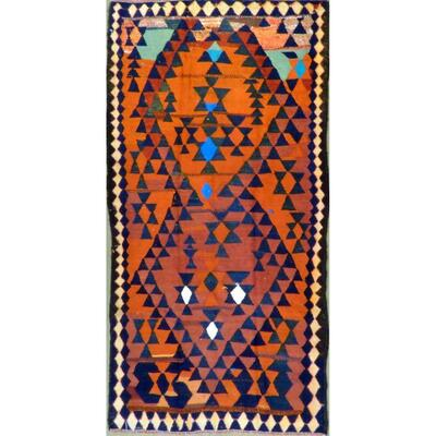 Authentic Persian Vintage Kilim  Wool Seneh Collection 8'10