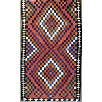 Persian Vintage Kilim Wool Seneh Collection kilim 8'11