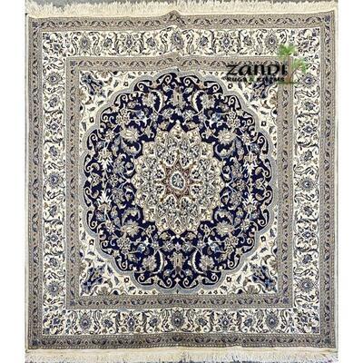 Persian Nain Esfahan design rug size 6'8''x6'8'' Retail $6000