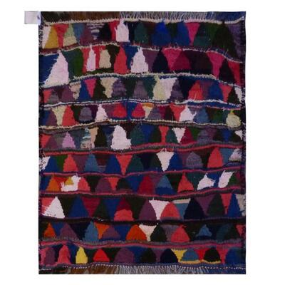PERSIAN VINTAGE KILIM MADE WITH NATURAL WOOL AND COTTON 105x105cm Retail $1068