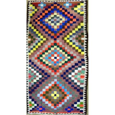 Authentic Persian Vintage Kilim Wool Seneh Collection 8'9