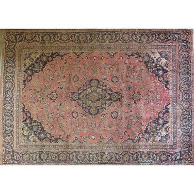 Persian mashad Authentic Traditonal Vintage Persian Rug 10'1