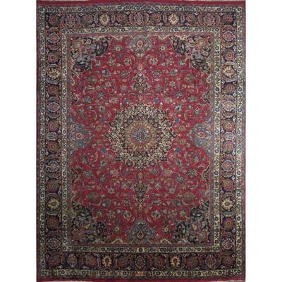 Persian mashhad Authentic Traditonal Vintage Rug 12'6