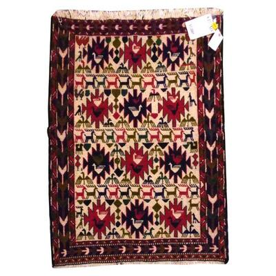 PERSIAN MOGHAN KILIM MADE WITH NATURAL WOOL AND COTTON 4'9