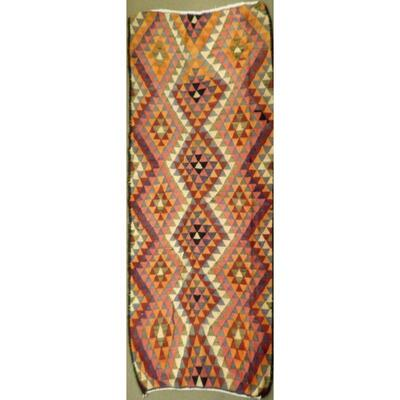 Authentic Persian Vintage Kilims Wool Seneh Collection 8'11