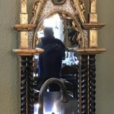 K102 - Harrison & Gil Wood Carved wall Mirror