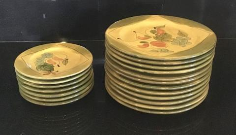 """Included are: 12 Dinner Plates - 11.5"""" dia. 7 Salad Plates - 8 .5"""" dia."""