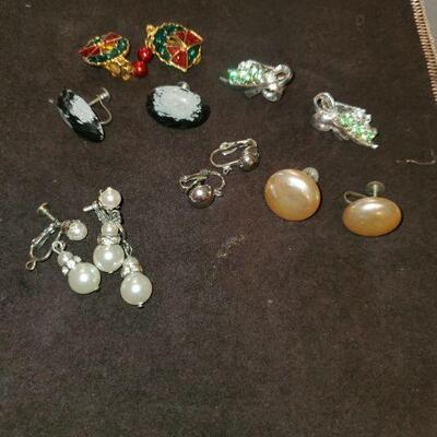 Vintage Earrings Lot