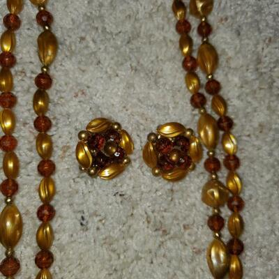 Vintage Necklace and Earrings