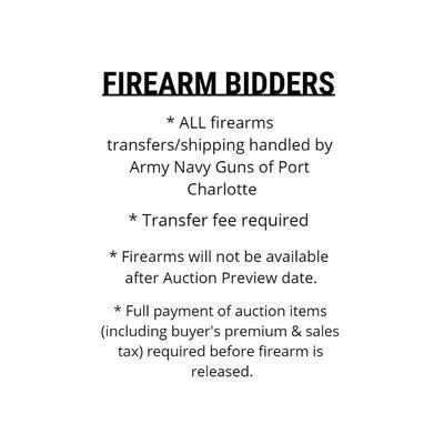 FIREARM BIDDER INFORMATION [N.S.L.]