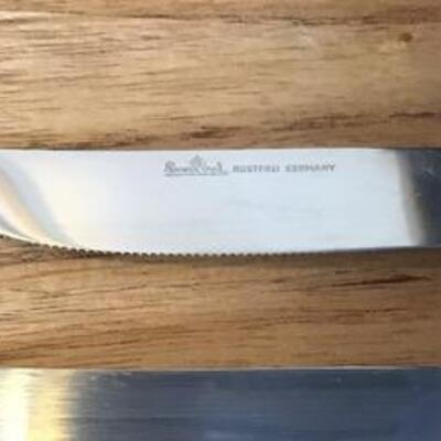 K133 - (6) Pc. Rosenthal Bestecke Knife Set w/ Porcelain Handles