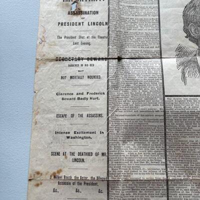 1865 President Lincoln dead / New York Herald