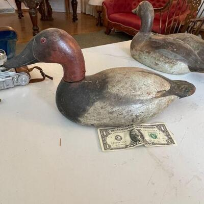 Antique wood duck decoy #3