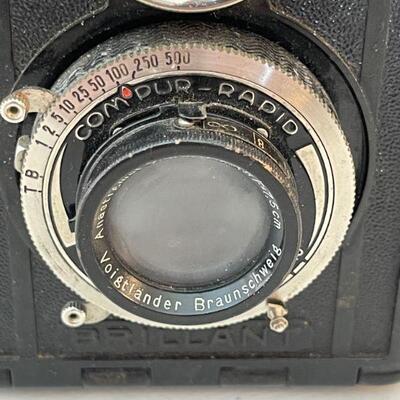 Voightlander box camera / leather case