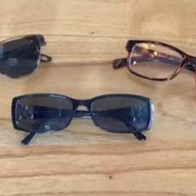 K158 - 3 Pairs of Women's Glasses - 1 is Bvlgari with crystals