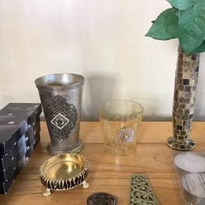 K160 - Mirror Tile Vase, Tealights, Candle Holder + more