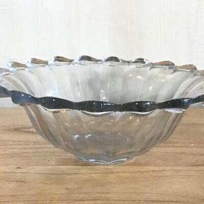 K163 - Large Clear Centerpiece Bowl