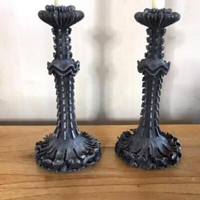 K166 - Pair of Attractive L' Object Neiman Marcus Candlesticks