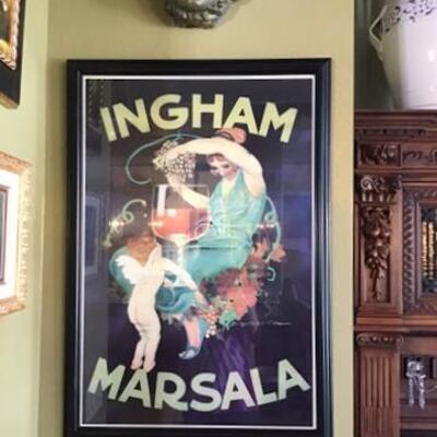 K170 - Ingham Marsala Framed Print - signed