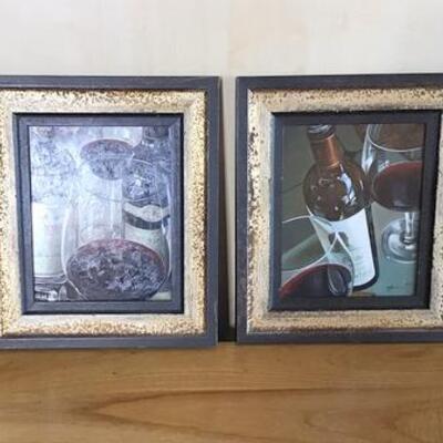 K178 - Pair of Wine Themed Framed Prints