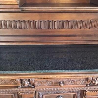 K180 - Impressive English Cabinet w/ Granite Top