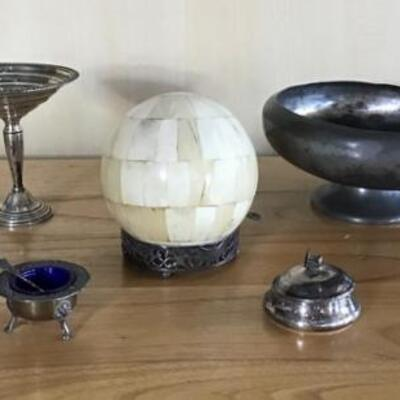 E112 - Lot of Silver Plate & Sterling Items