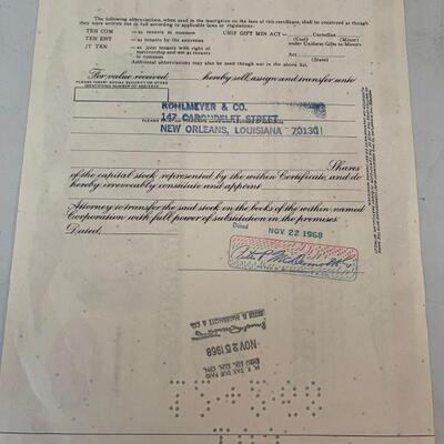 Pan American World Airways Stock Certificate