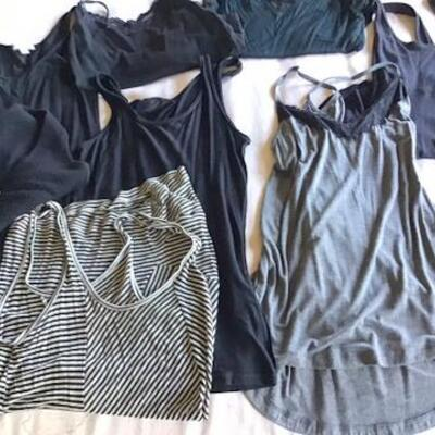 C122 - 10 Women's Casual Cami & Tank Tops - Mostly Black Colored
