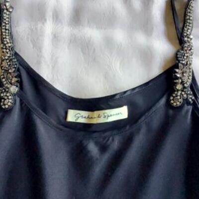 C127 - Graham & Spencer Embellished Silk Cami Sz. S