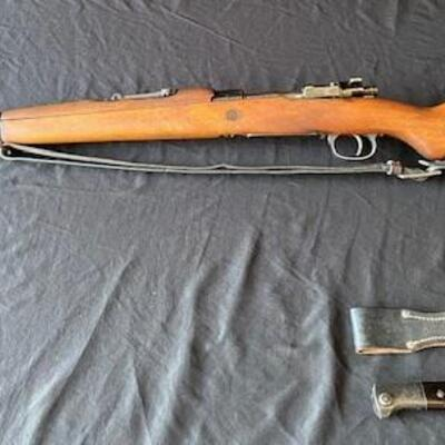 LOT#W9X: Believed to be Yugo Model 1924 Mauser Short Rifle (Pre WWII) with Bayonet