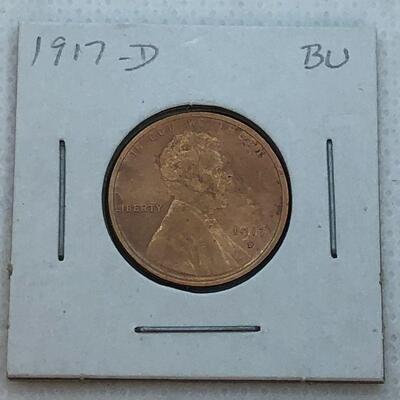 Lot 13 - 1917 D  Lincoln Wheat Penny