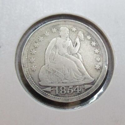 Lot 32 - 1854 P Seated Liberty Dime