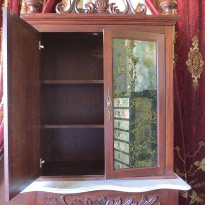 355 - Magnificent Custom Made Hand Carved Cabinet