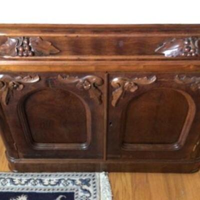 357 - Antique Marble Top Wash Stand